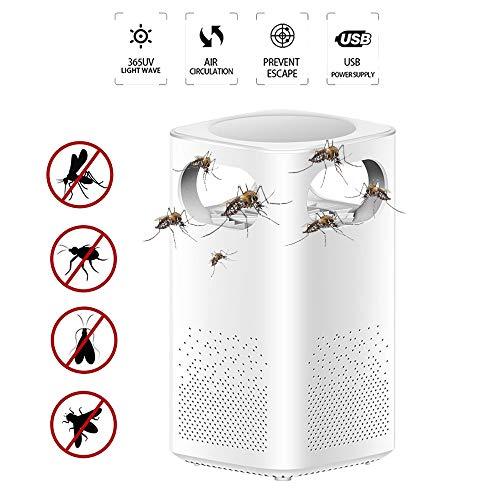 SIBEI Asesino del Mosquito, Asesino del Mosquito de la lámpara, la Captura de Onda de luz + Temperatura del Cuerpo Humano Captura + Humedad Ambiental Captura del Asesino del Mosquito Mosquitos