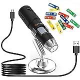 Lightswim Microscope numérique sans Fil, 720P USB Portable WiFi Mini caméra de Poche à grossissement 50X-1000X, 8 lumières LED compatibles avec Smartphone Android, iPhone, Tablette, Windows (Noir)