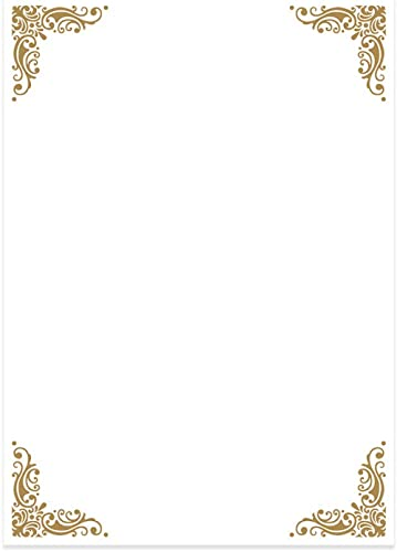 Letter Writing Paper and Envelopes (A5 Size, Pack of 24) - Stationery Ideal for Poems, Lyrics, Invitation, Expressing...