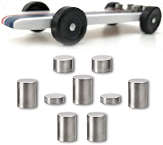 Pinewood Derby Weights Tungsten 3.25oz, Varied Sizes of 3/8 inch Diameter Incremental and Configurable Tungsten Weights for Pinewood Derby Cars (Pack of 9)