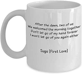 BTS Suga Coffee Mug – First Love - Bangtan Boys Min Yoongi - Bulletproof Boy Scouts