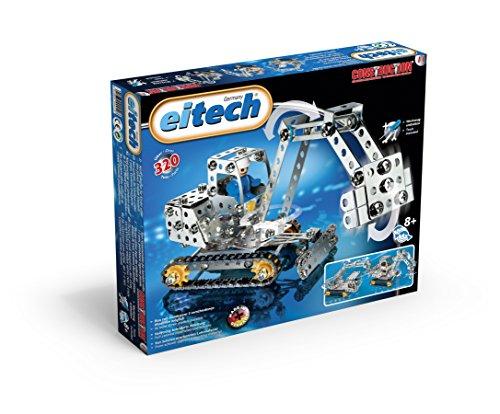 Eitech 00011 - Metallbaukasten - Minibagger / Kran Set, 320-teilig