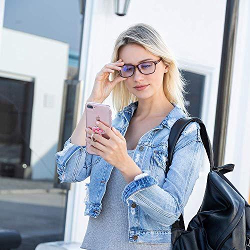 Blue Light Blocking Glasses - Computer Game Glasses Square Eyeglasses Frame, Blue Light Blocker Glasses for Women Men, Anti EyeStrain Headache
