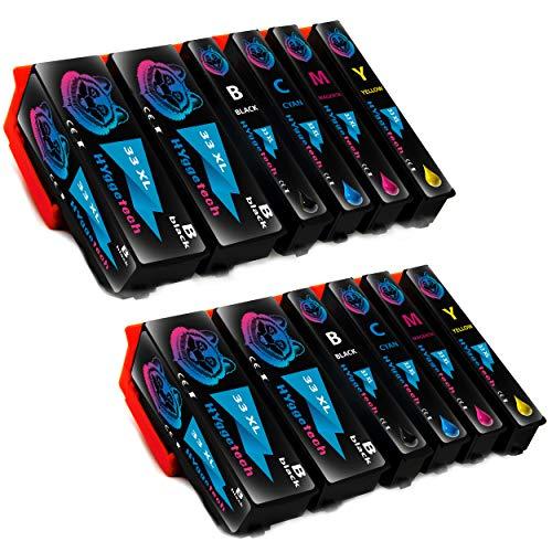 Hyggetech 5X 33XL - Cartuchos de tinta para Epson 3351 3361 3362 3363 3364 XL