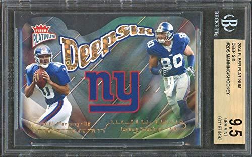 Eli Manning Rookie Card 2004 Fleer Platinum Deep Six #2Ds (Pop 1)...