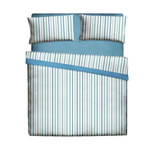 Casa Lieri - Juego de sábanas de 150, Algodón, 50% Poliéster, Azul. Cama 150 (Todas las medidas)