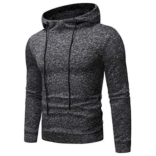 Mr.BaoLong&Miss.GO Men Snow Pattern Sweater Sweatshirt Autumn and Winter Men Black Sweater Hooded Plus Size Men Loose Sports Hoodie Jacket