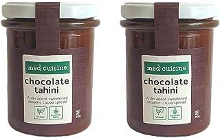 Med Cuisine Chocolate Tahini Spread - Pasta De Sésamo Con Cacao En Polvo - Tahini Vegano 100% Natural - Semillas De Sésamo Tostadas - Sin Gluten - Keto Y Paleo Dieta - Súper Alimento Para Untar 210g