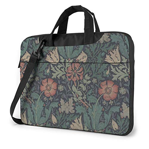 Flower Plants Laptop Sleeve Case 15.6 Inch Computer Tote Bag Shoulder Messenger Briefcase for Business Travel