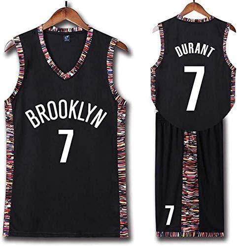 YCJL Maglia da Basket per Bambini NBA Nets # 7 Kevin Durant Adulti Bambini Divisa Sportiva da Competizione Unisex, Set di Vestiti Abbigliamento Sportivo,2XS:136~144cm