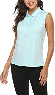 AIRIKE Golf Polo Shirts for Women Sleeveless Summer Sports Athletic Fashionable Workwear-Quick Dry Womens Tank Tops Green