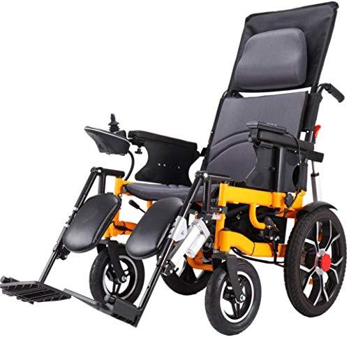 TYT Silla de Ruedas Eléctrica Inteligente Scooter Anciano Caminante,Automático Reclinable Plegable Ligero...