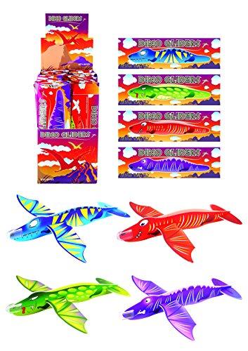 Henbrandt 12x Dinosaur Gliders (4 Assorted Designs) by