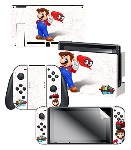 """Controller Gear Nintendo Switch Skin & Screen Protector Set, Officially Licensed By Nintendo - Super Mario Map"""" - Nintendo Switch"""