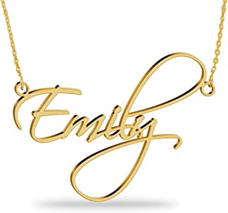 custom name necklace gold plated