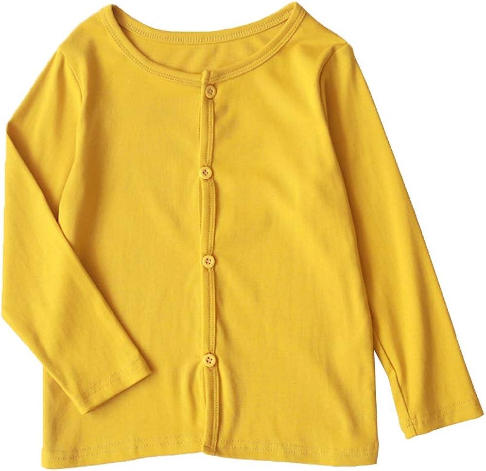 Girl Cardigan Ultra-Thin Summer Coat Kid Sun Protective Long Sleeve Button Crew Neck Top