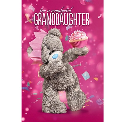 Me To You Tatty Teddy 3D Holographic Card Wonderful Granddaughter Birthday Card