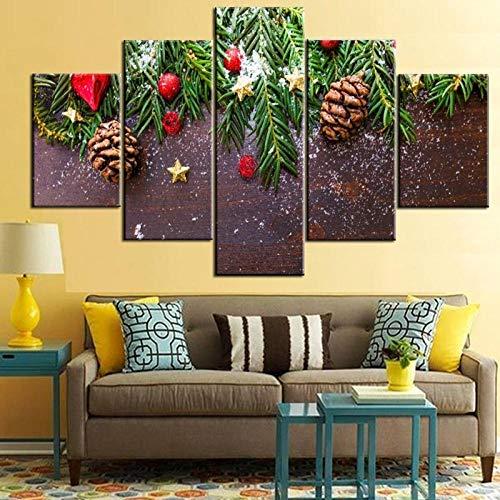 Canvas schilderij muurkunst 5 hoge resolutie wandschilderijen Green Pine Branch schilderij schilderij schildersdoek moderne canvas foto poster No Frame 40x60 40x80 40x100 cm