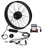 TZIPower Kit de conversión de bicicleta eléctrica con pantalla a color, rueda trasera de 26 pulgadas x 4.0, 48 V, 500 W