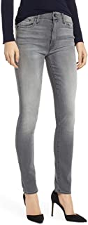 MOTHER Women's High-Waisted Looker Skinny Ankle Crop Grey Jeans, Supermoon
