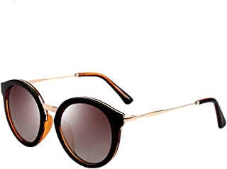Vintage Round Cateye Sunglasses for Women Metal Frame Uv400 Protection with Case PZ9522