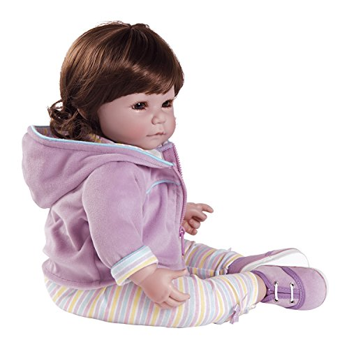 Adora Toddler Doll Rainbow Sherbet Doll with rainbow outfit and velour zip-up hooded jacket