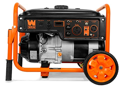 WEN 56500 5000-Watt RV-Ready 120V/240V Portable Generator with Wheel Kit, Black