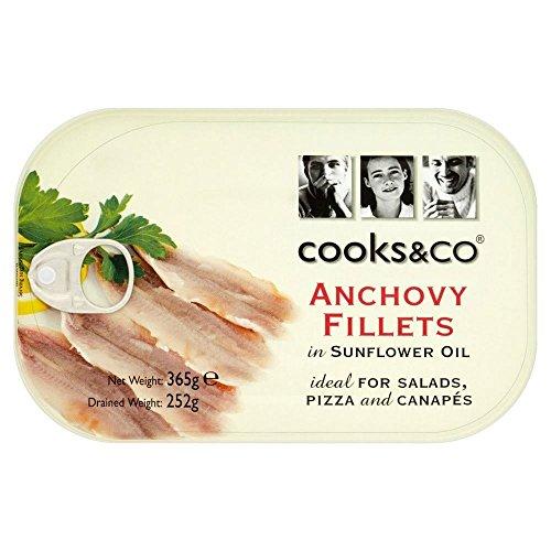 Cooks & Co Filetes De Anchoa En Aceite De Girasol (365g) (Paquete...