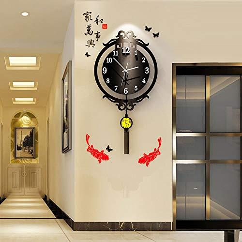 Reloj de pared – Acrílico/Metal Puntero/Personalidad/Home/Reloj, Moda Reloj de pared Salón Dormitorio Creative Reloj de pared Reloj de pared (40 x 74 cm) Mereces tener
