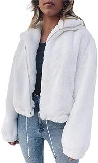 Women's Winter Warm Fuzzy Fleece Open Front Cardigans Jacket Coat