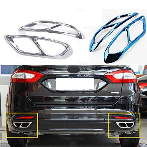 TAYDMEO Auto-Styling, für Ford Mondeo 2014-2019, Heckklappenabdeckungen Edelstahl Doppelauspuffrohr Motorhaubenabdeckung