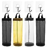 AFUNTA 4 bolsas de plástico para el hogar, plegable, transpirable, para colgar bolsas de basura...