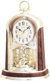 Rhythm USA Woodgrain Spiral Mantel Clock