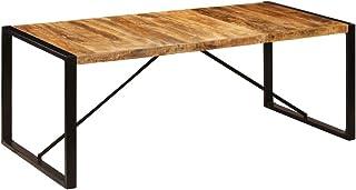 vidaXL Bois de Manguier Solide Table de Salle à Manger Table à Dîner Meuble de Cuisine Table de Repas Mobilier à Dîner Mai...