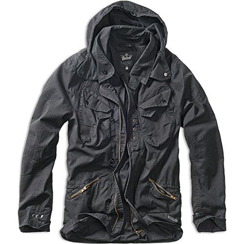 Brandit Herren Byron Outdoorjacket, Hood Jacke, Schwarz (Black 2), X-Large