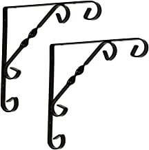 KUWD Europese smeedijzeren driehoekige beugel, laminaatbeugel, plank ondersteuning, stabiele lading, eenvoudig en stijlvo...