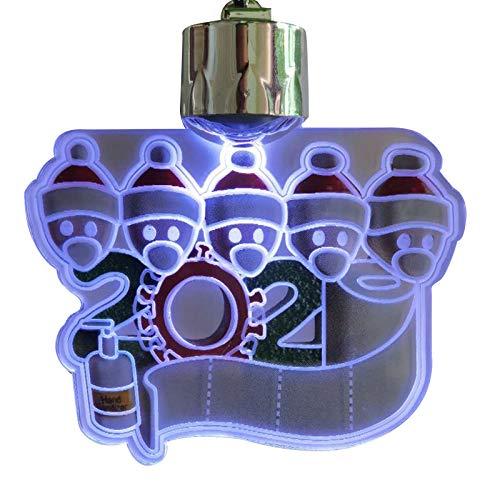 LAODIA 2020 Christmas Ornament Shows Commemorative Christmas Decorations Family Christmas Creative Family Pendants Christmas Pendants