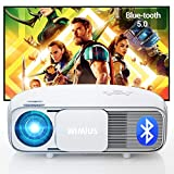 "Proiettore, Bluetooth 7200 lumen Nativa 1920x1080P Full HD, WiMiUS S4 Home Cinema Videoproiettore LED, AC3 & 4K supportato, 300"" Schermo Gigante, per Fire TV Stick, PS4, PC, iPhone, tablet, DVD"
