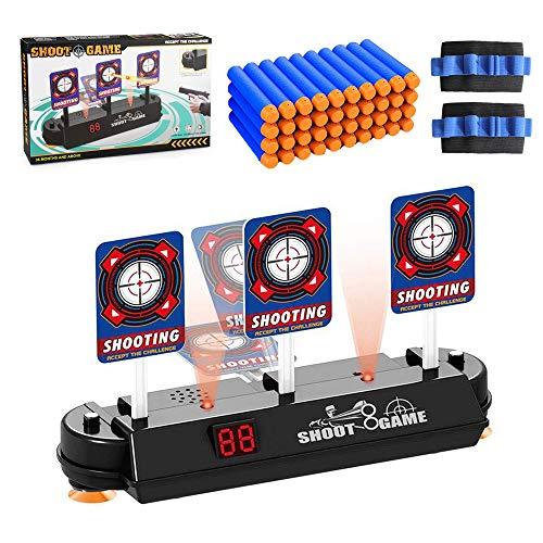 Coltum Neuste Modell Zielscheibe für Nerf,Auto Reset Elektro-Schießscheiben,Shooting Target,Elektrische Ziel,Toy Gun Elektrische Punktzahl Ziel,Digitale Ziele mit hellem Soundeffekt