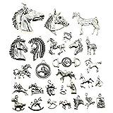 100 g de plata envejecida, diseño de caballo, accesorios de joyería