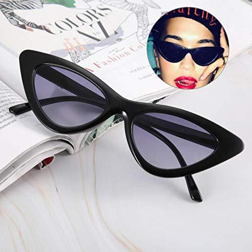 Adorno Gafas de sol resistentes al desgaste duraderas, para mujer(Bright black full gray film)