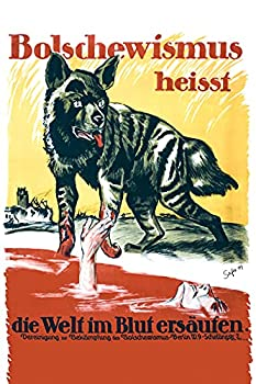 WW1 German Propaganda Poster - Bolshevism - Anti Communist Poster  Unframed Poster 5.8 x 8.3 inches or A5 size