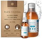 Plata Coloidal Prémium 300 ml ● 40 ppm ● Óptima Concentración, Partículas más Pequeñas, Mejores Resultados ● Certificada por Laboratorio ● Incluye Pulverizador para llenar y Ebook