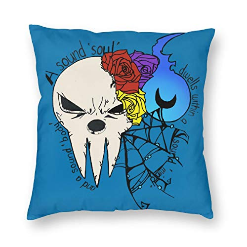 Giorno Anime Soul Eater Mask Square Pillow Covers, Home Bed Room Interior Decoration