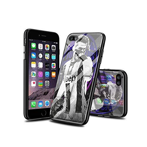 WuSzlON Compatible con iPhone 8 Plus Funda, iPhone 7 Plus Funda, Cristal Templado Delgado, Resistente a los arañazos, Suave Borde de TPU anticaídas para iPhone 8 Plus/iPhone 7 Plus A007