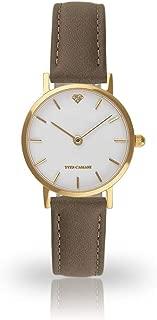 YVES CAMANI LÈA Women's Wrist Watch Quartz Analog Gold Stainless Steel Case White Dial