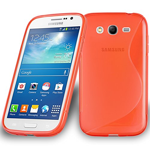 Preisvergleich Produktbild Cadorabo Hülle für Samsung Galaxy Grand 3 - Hülle in Inferno ROT Handyhülle aus flexiblem TPU Silikon im S-Line Design - Silikonhülle Schutzhülle Soft Back Cover Case Bumper