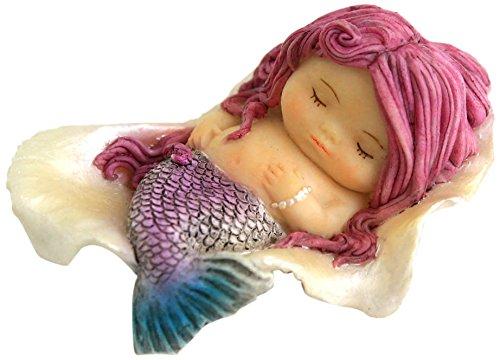 Top Collection Miniature Fairy Garden and Terrarium Little Mermaid Sleeping in Seashell