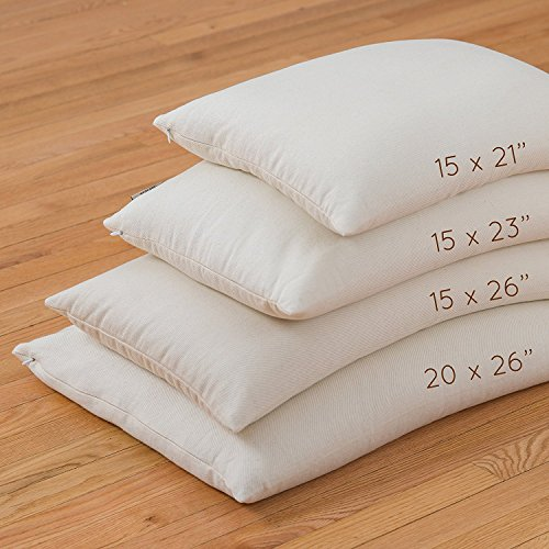 """ComfyComfy Premium Buckwheat Pillow, Standard Size (20"""" x 26""""), Comes with Extra 2 lb of USA..."""