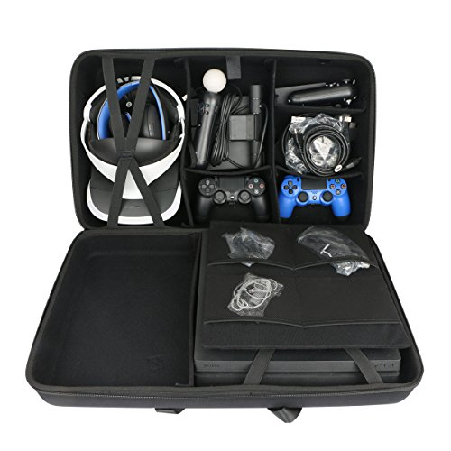 Hard Travel Case for Sony PlayStation 4 PS4 Pro Console + PlayStation VR PSVR Launch Bundle by co2CREA